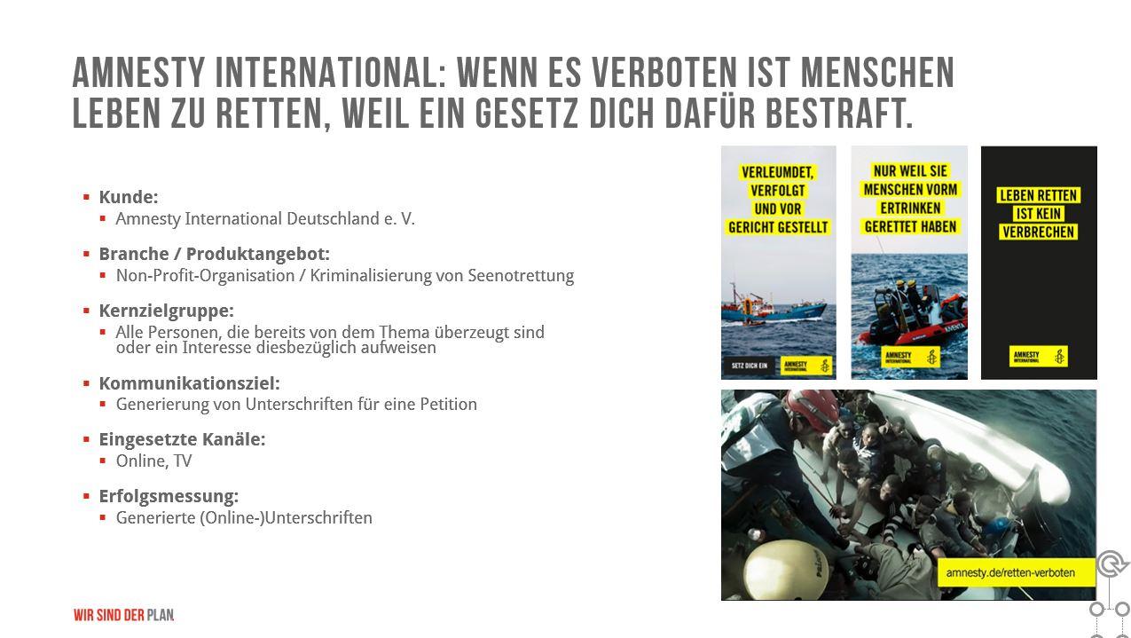 Amnesty International - Medienplanung