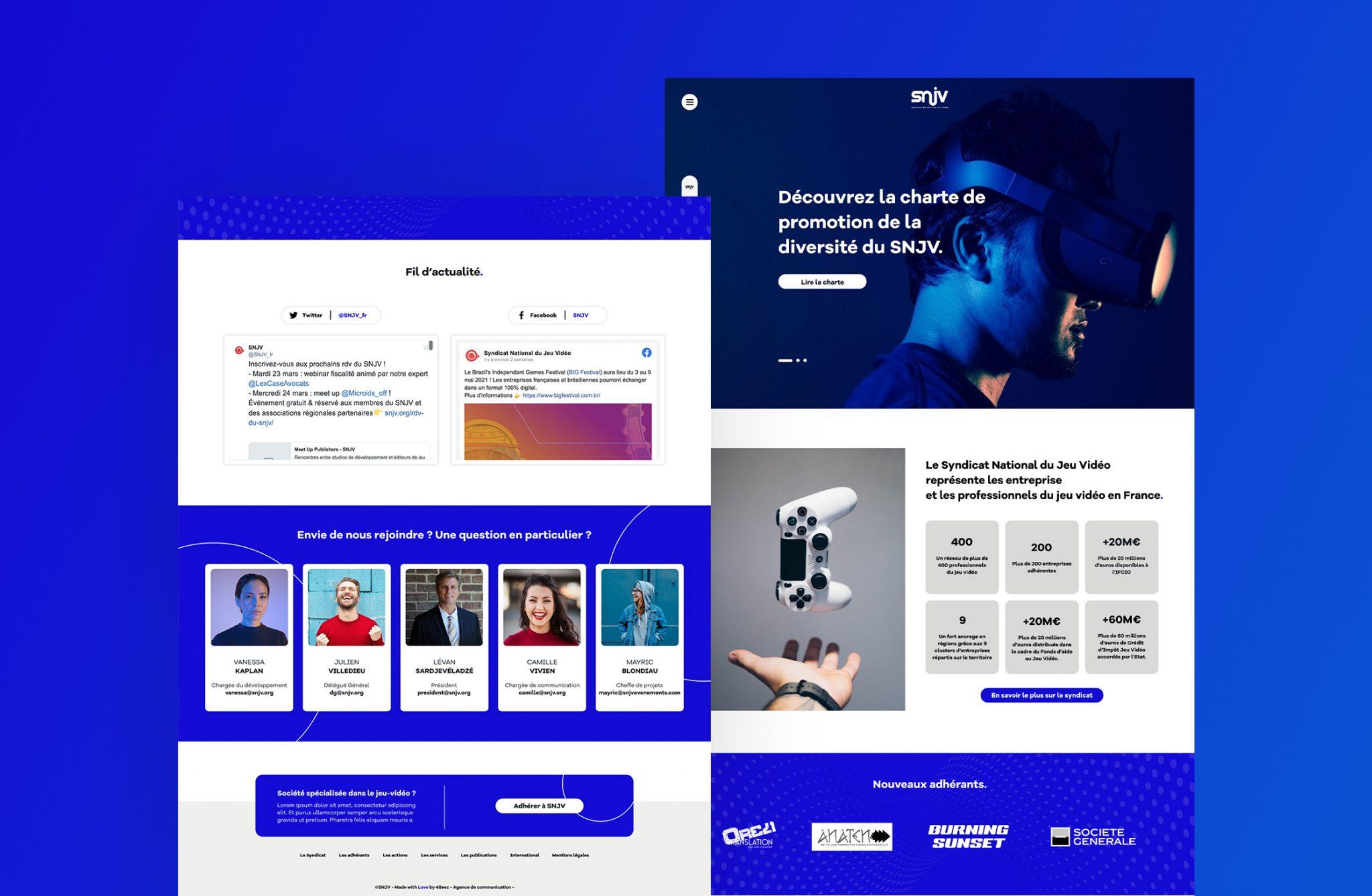 Refonte site web SNJV - Création de site internet