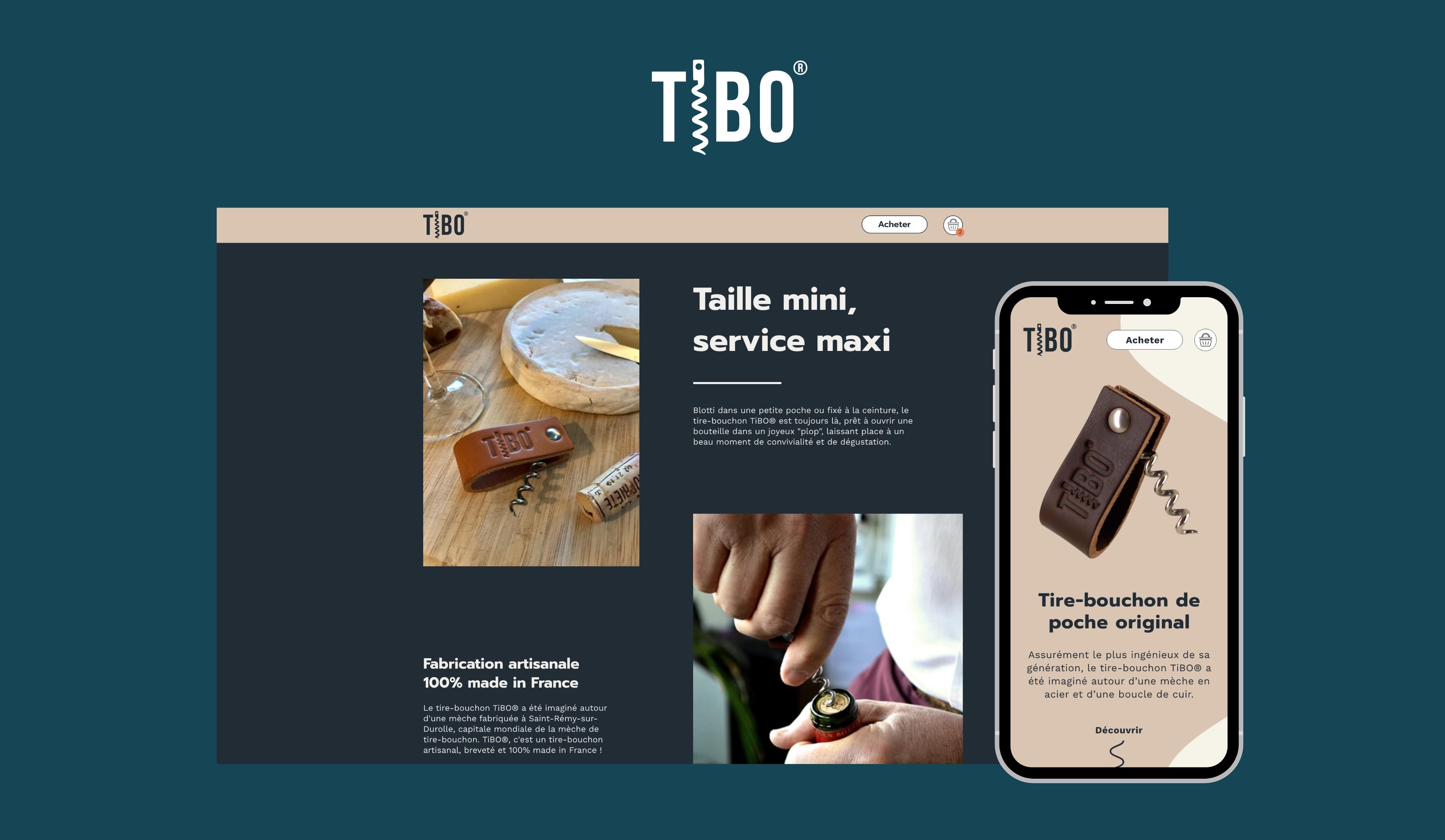 Création d'une  boutique Shopify sur mesure - TiBO