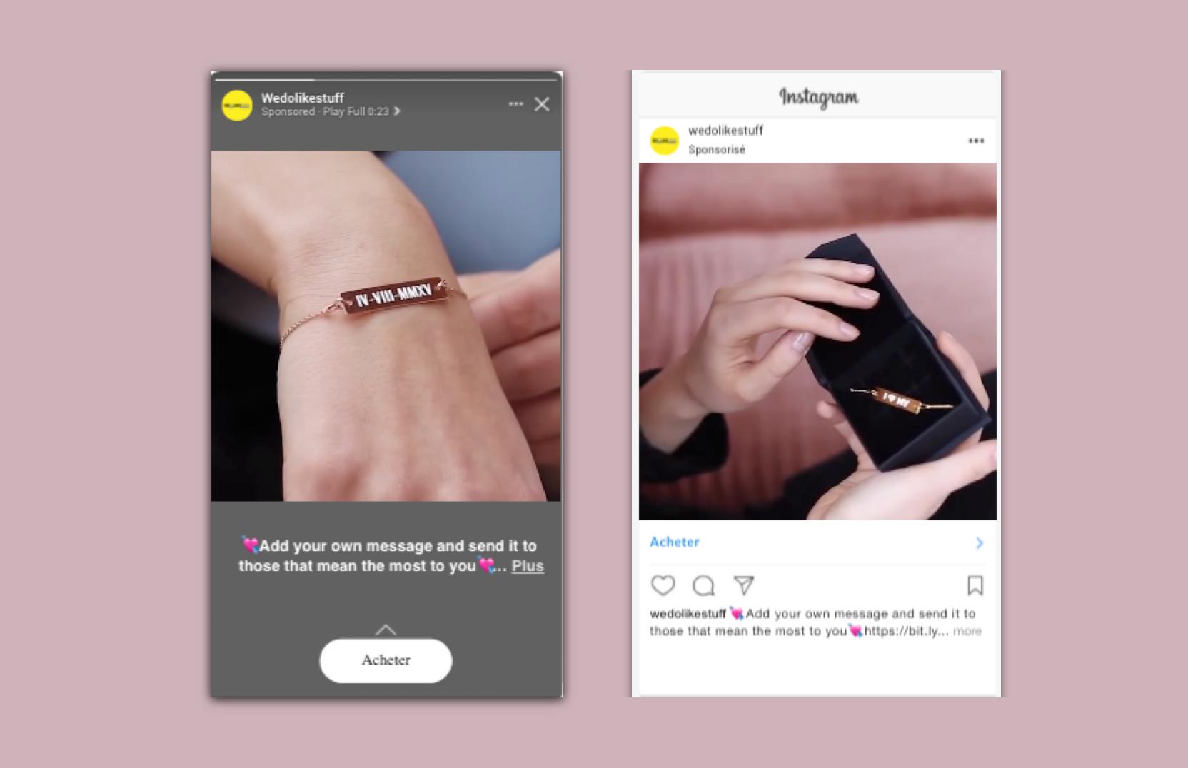 WEDOLIKESTUFF - Advertising Facebook/Instagram - E-commerce
