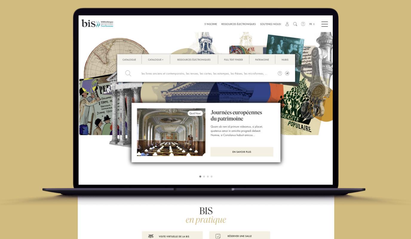 Bibliothèque de la SORBONNE I UX Ergonomie - Création de site internet