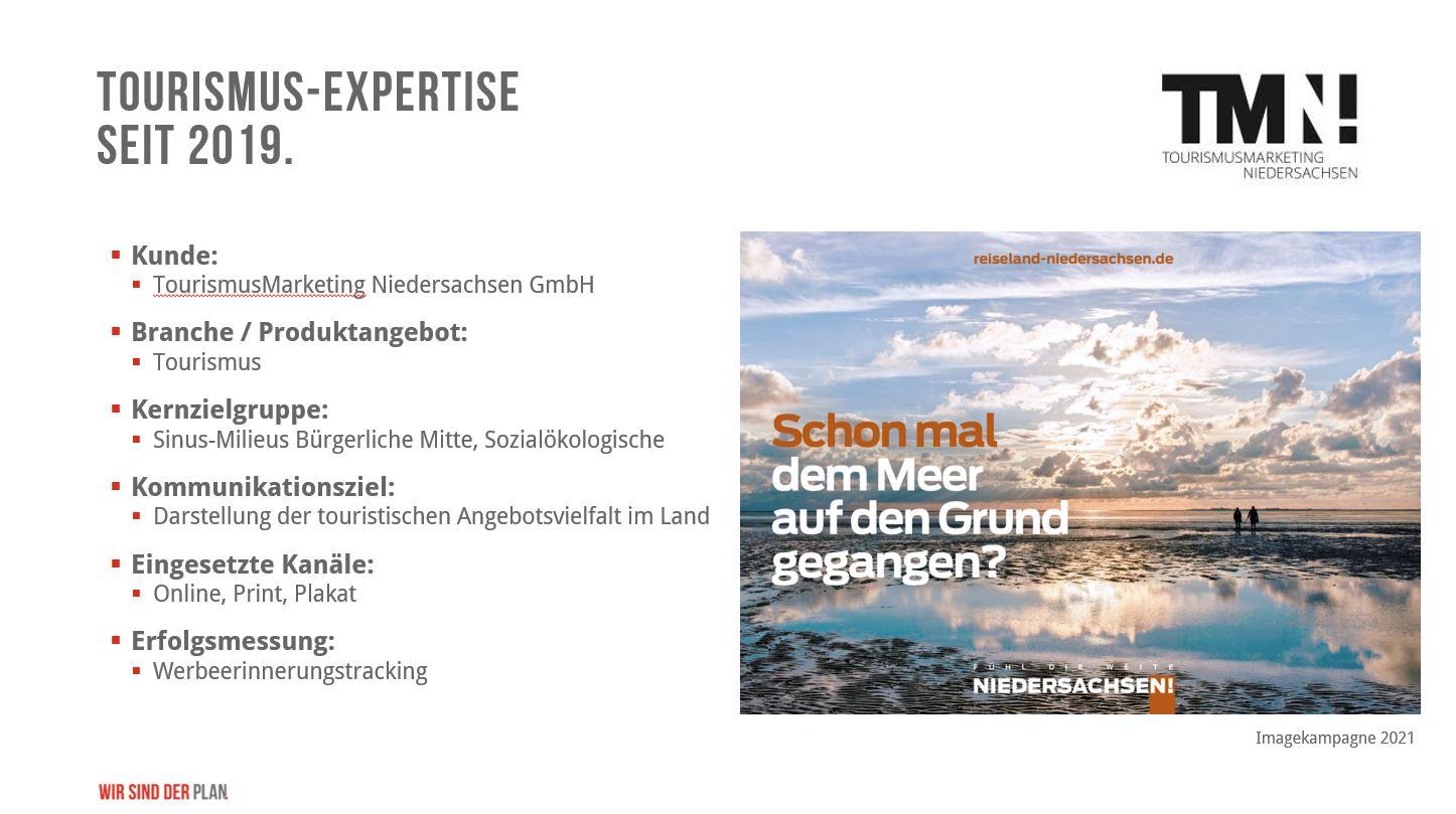Tourismusmarketing Niedersachsen! - Medienplanung