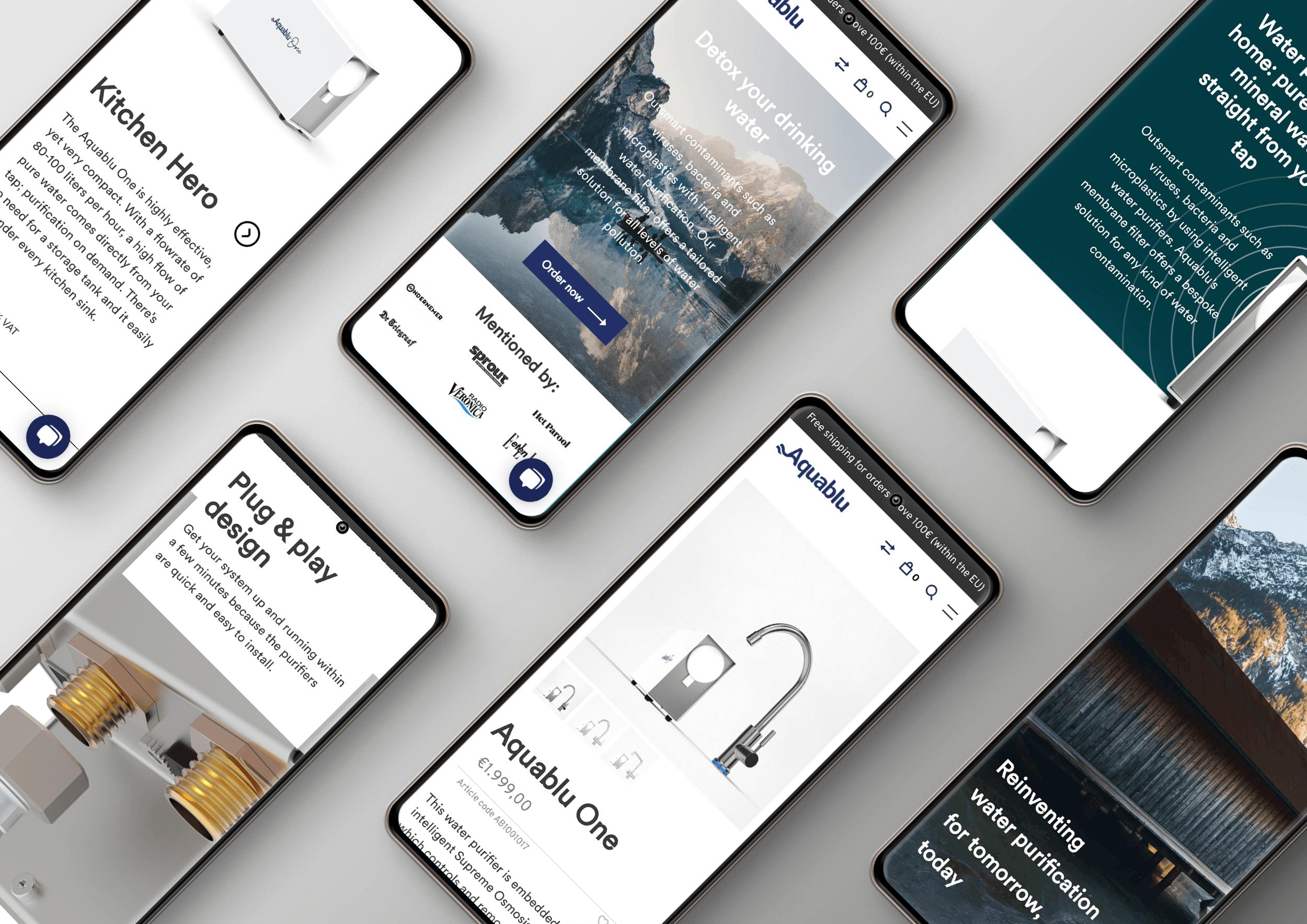 Aquablu - Lightspeed Webshop - Website Creatie