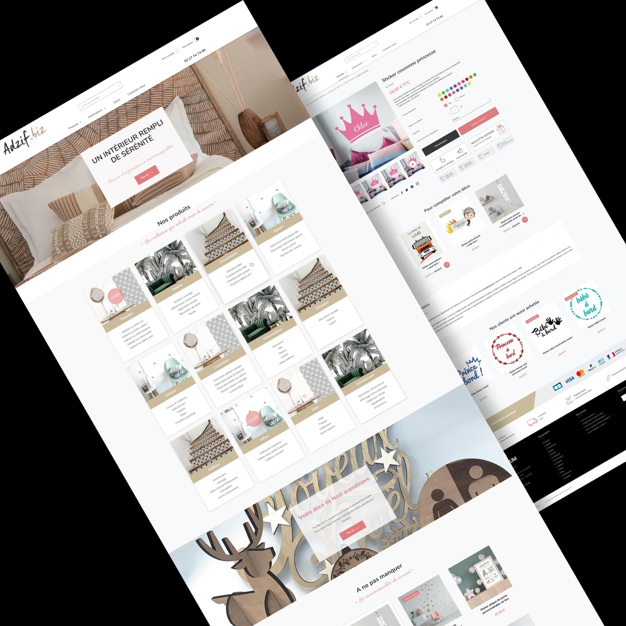 Adzif – Site E-commerce // Décoration - E-commerce