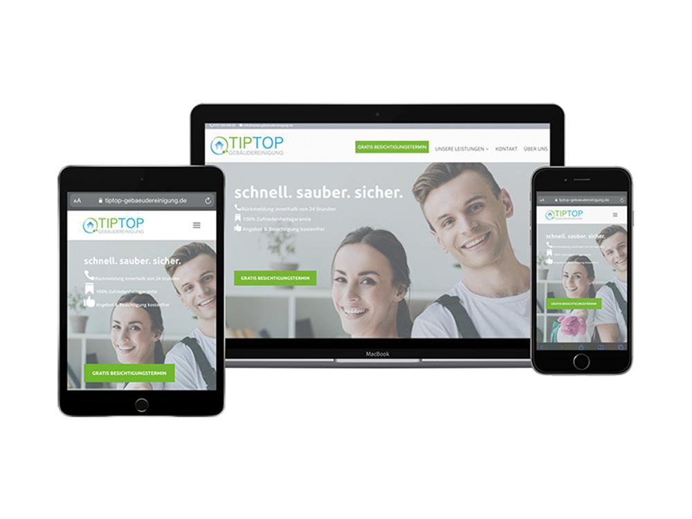 TipTop Gebäudereinigung - Webseitengestaltung