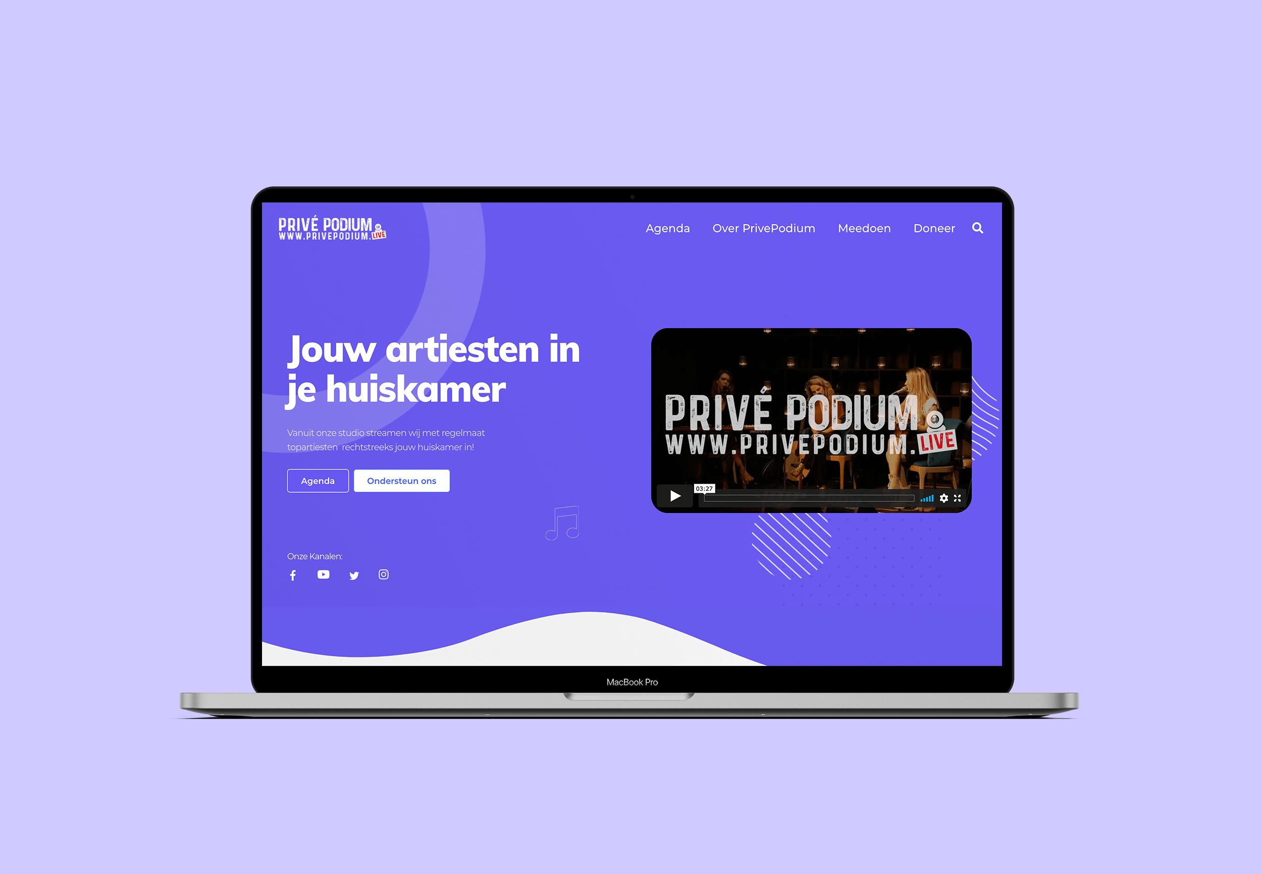 Privepodium.live - Website