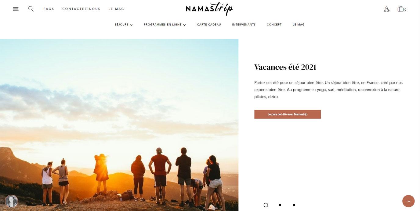 Namastrip - Webmarketing site e-commerce - Référencement naturel