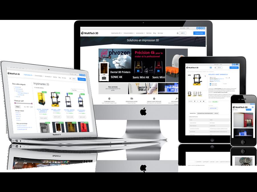 Création du dispositif de vente e-commerce - Création de site internet