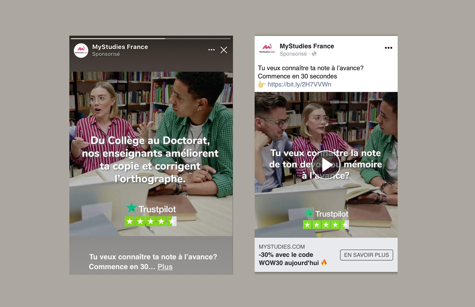 MYSTUDIES - Advertising Facebook/Instagram - Advertising