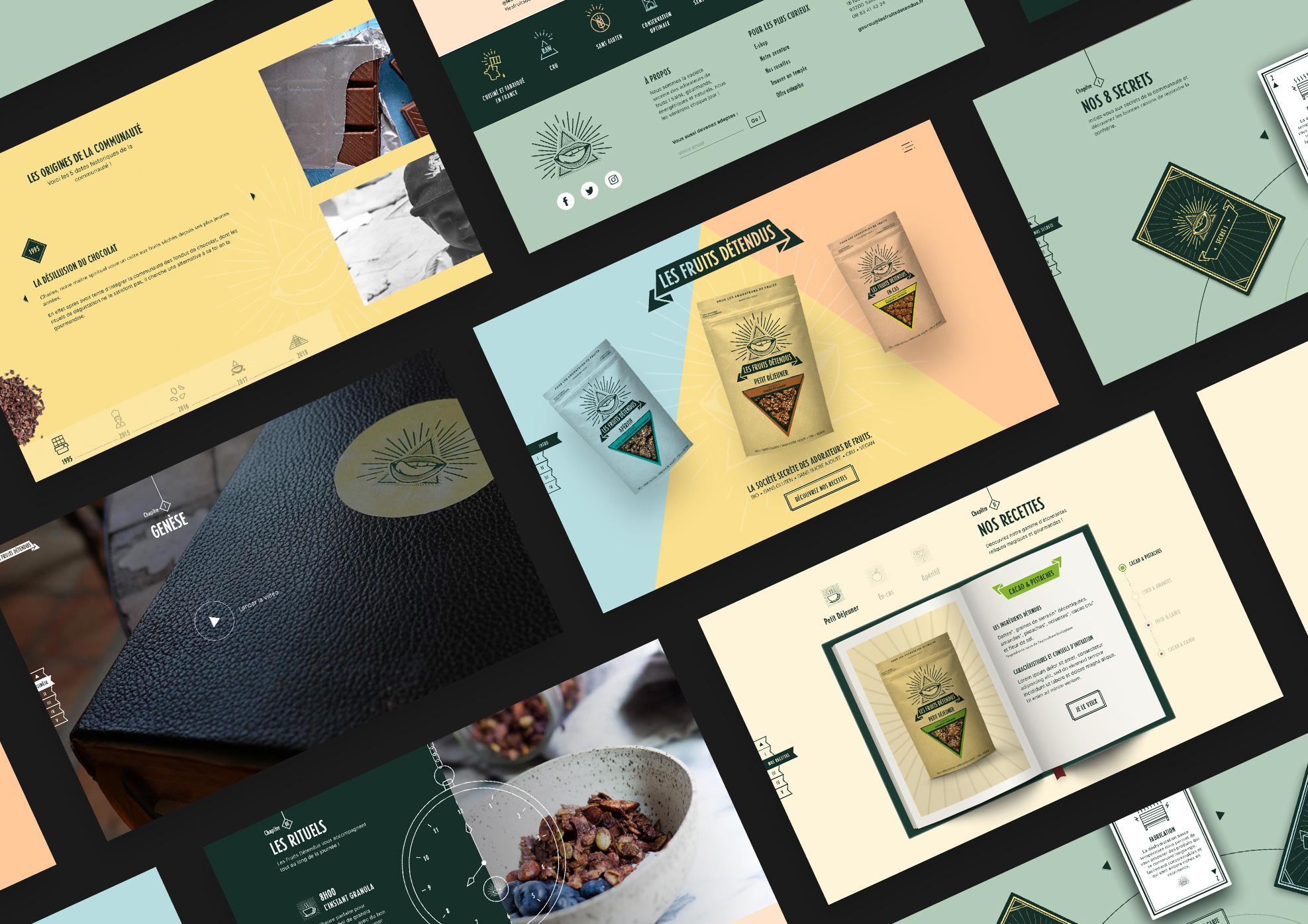 Les Fruits Détendus  Site web - Création de site internet
