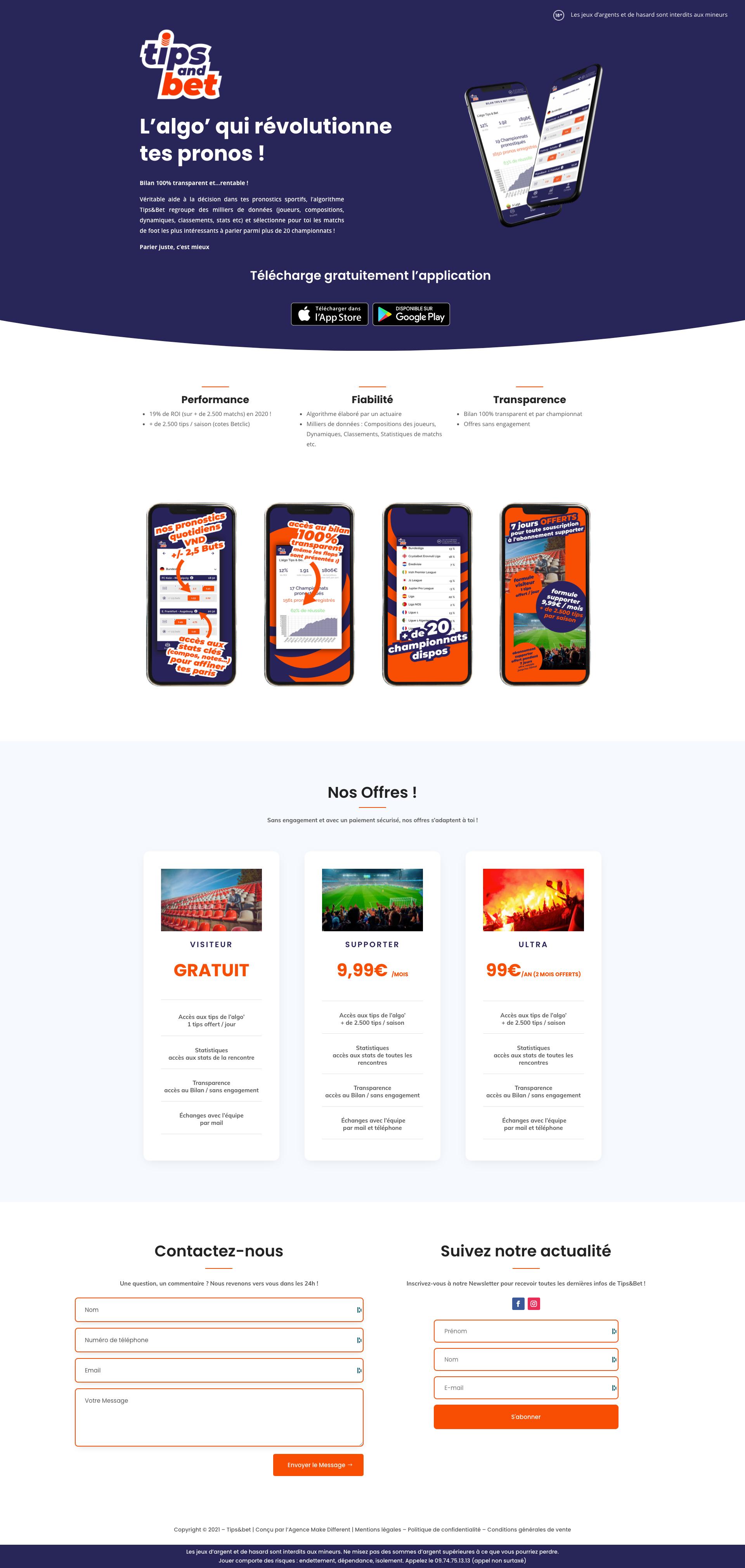 Tips & Bet - Pronostics Sportifs - Application mobile