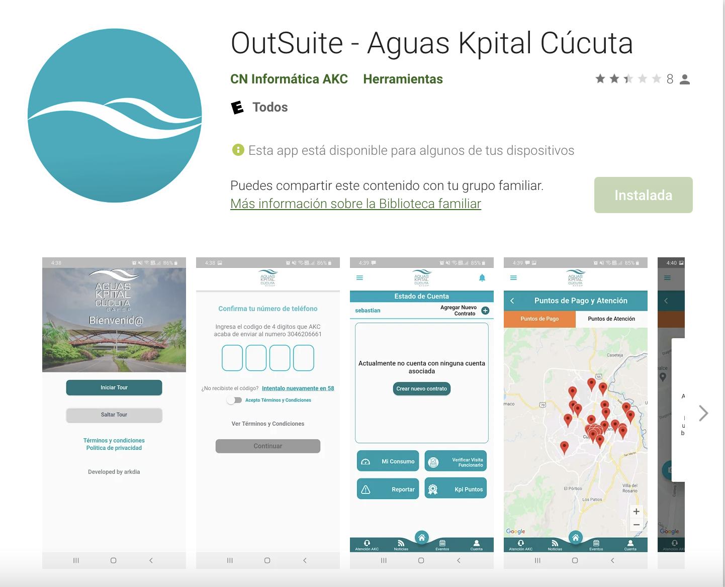 Aguas Kpital Cucuta - Aplicación Web