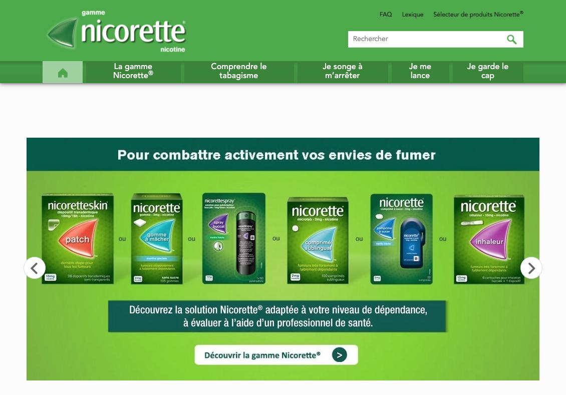 Nicorette : Accompagnement digital - E-commerce