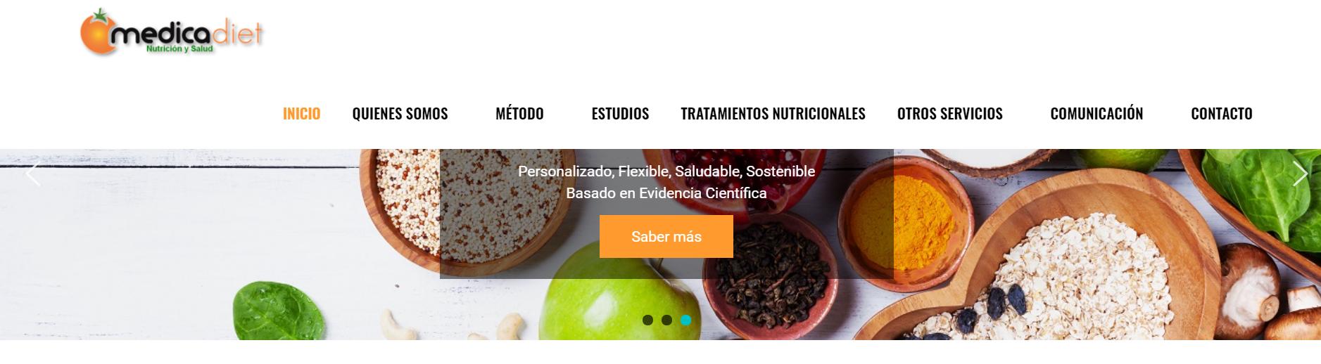 SEO, Redes Sociales y Programación para Medicadiet - Creación de Sitios Web