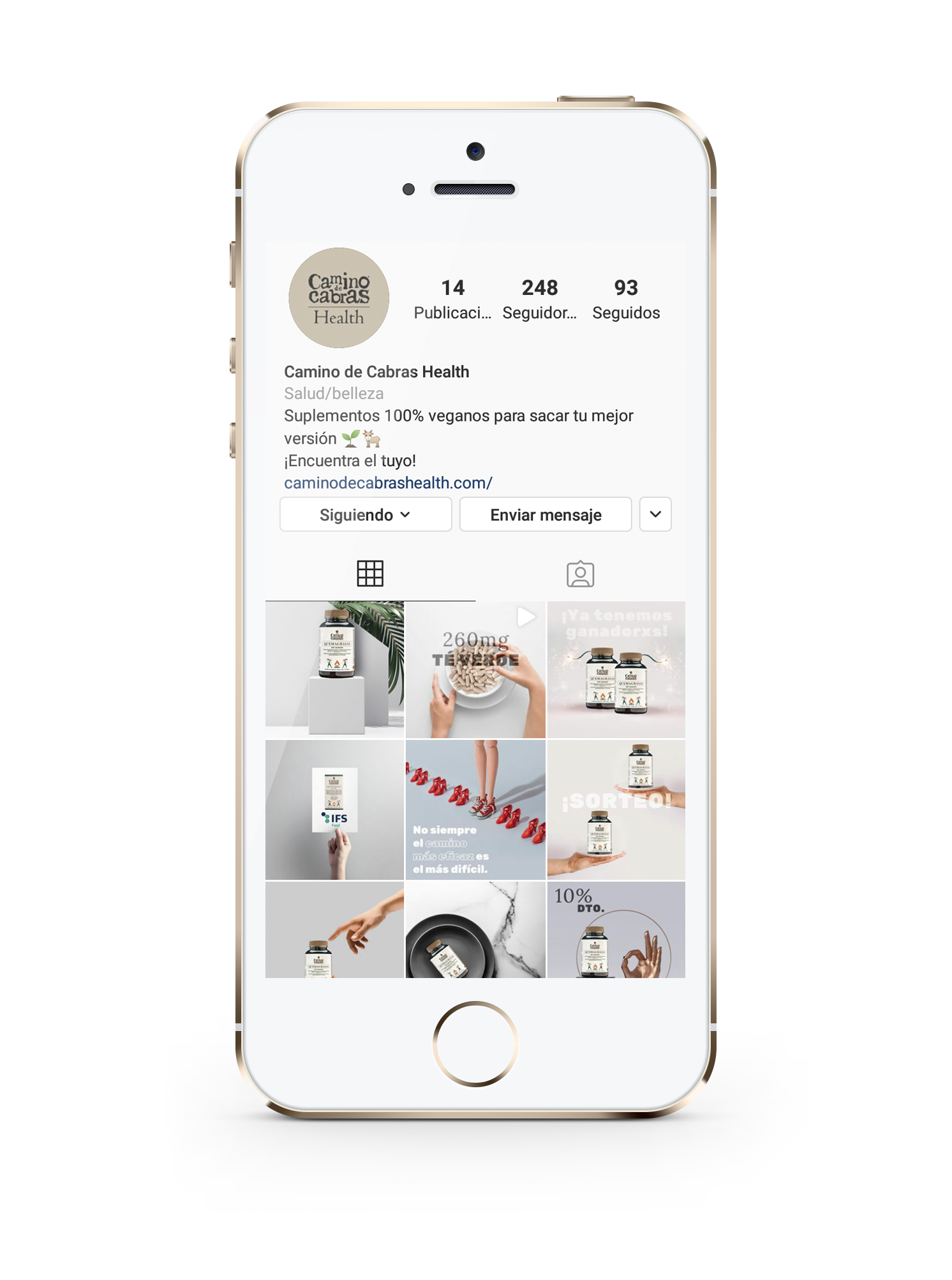 Estrategia Digital Camino de Cabras Health - Creación de Sitios Web
