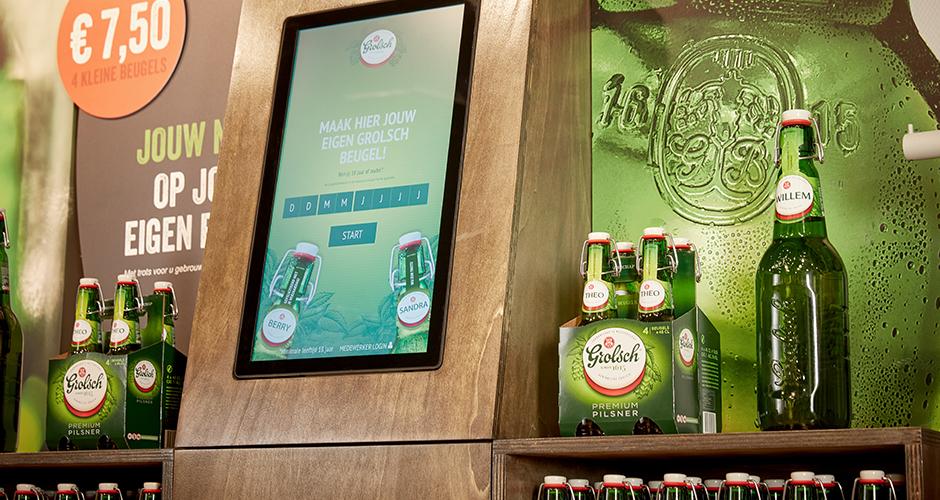 Personalising Grolsch's famous swing top bottle. - Web Applicatie