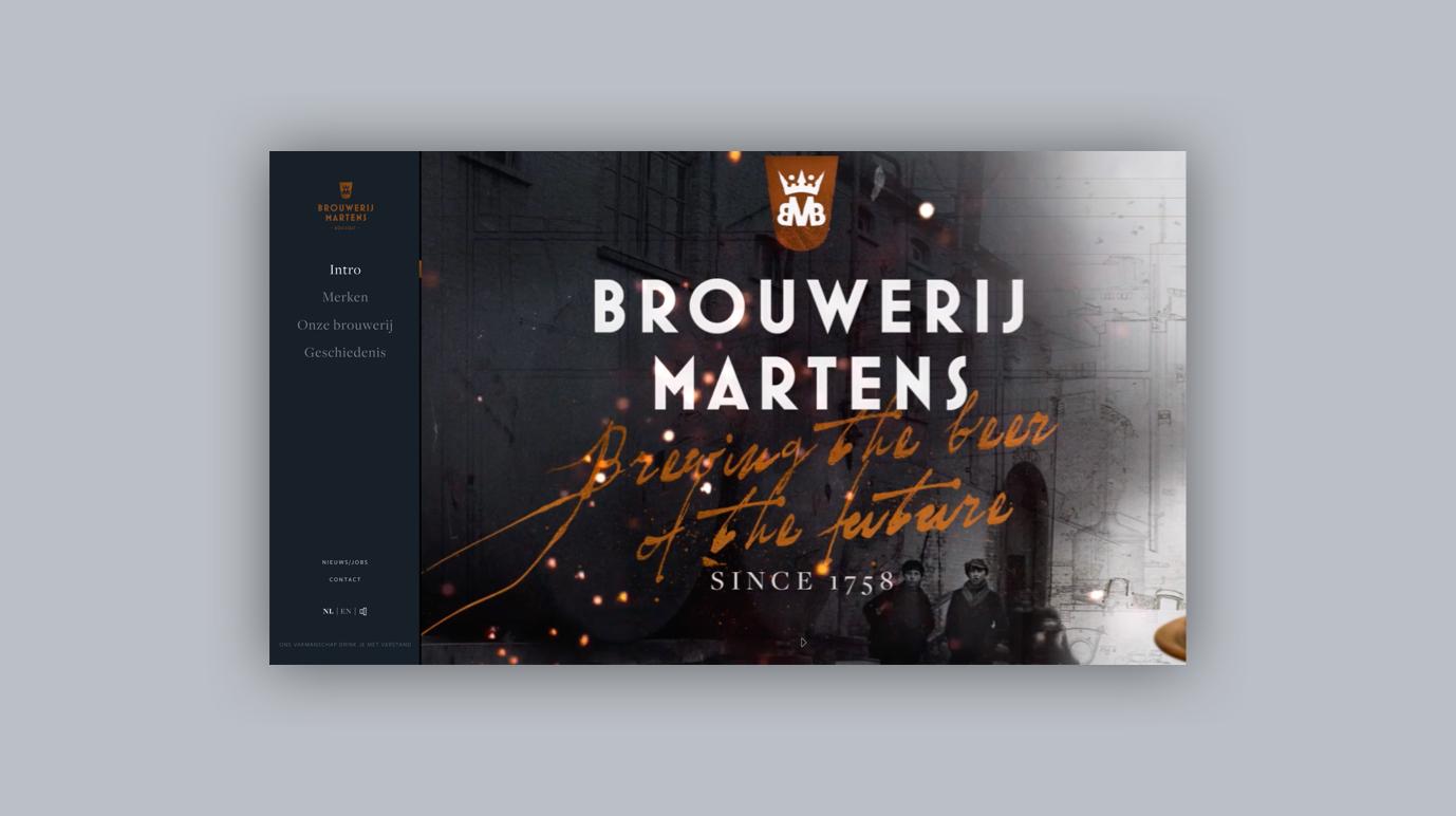 Brewery Martens - Corporate Website - Website Creatie