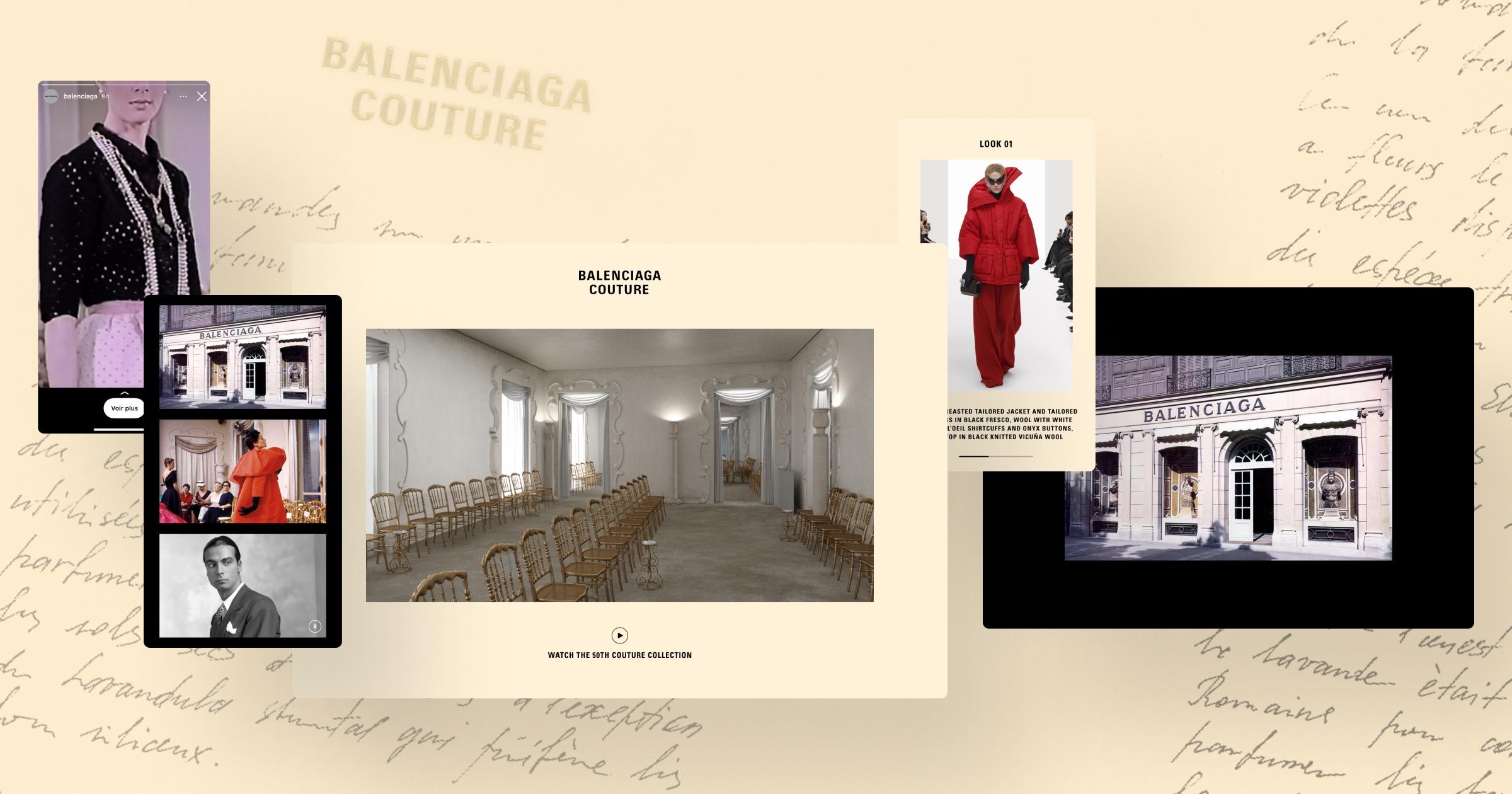 Balenciaga - Défilé Haut Couture - Application mobile
