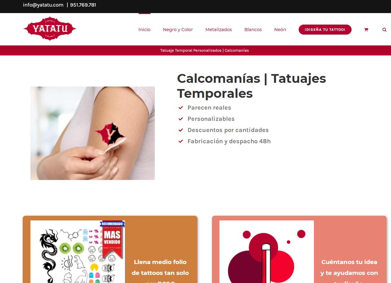 Yatatu tatuajes de calcomanía personalizados - E-commerce