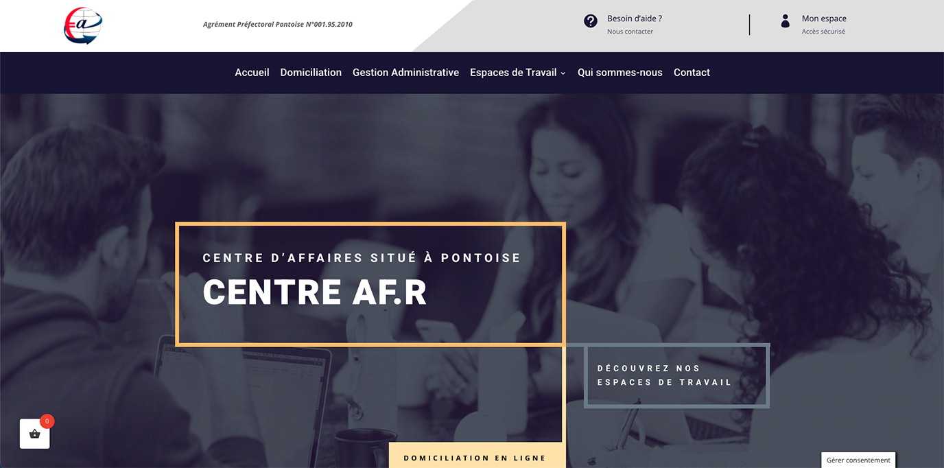 Centre AFR - Création de site internet