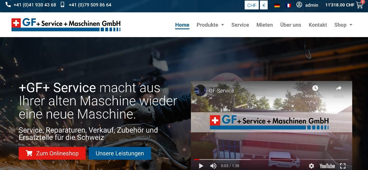 GF +Service+ Maschinen GmbH - Nottwil, Schweiz - E-Commerce