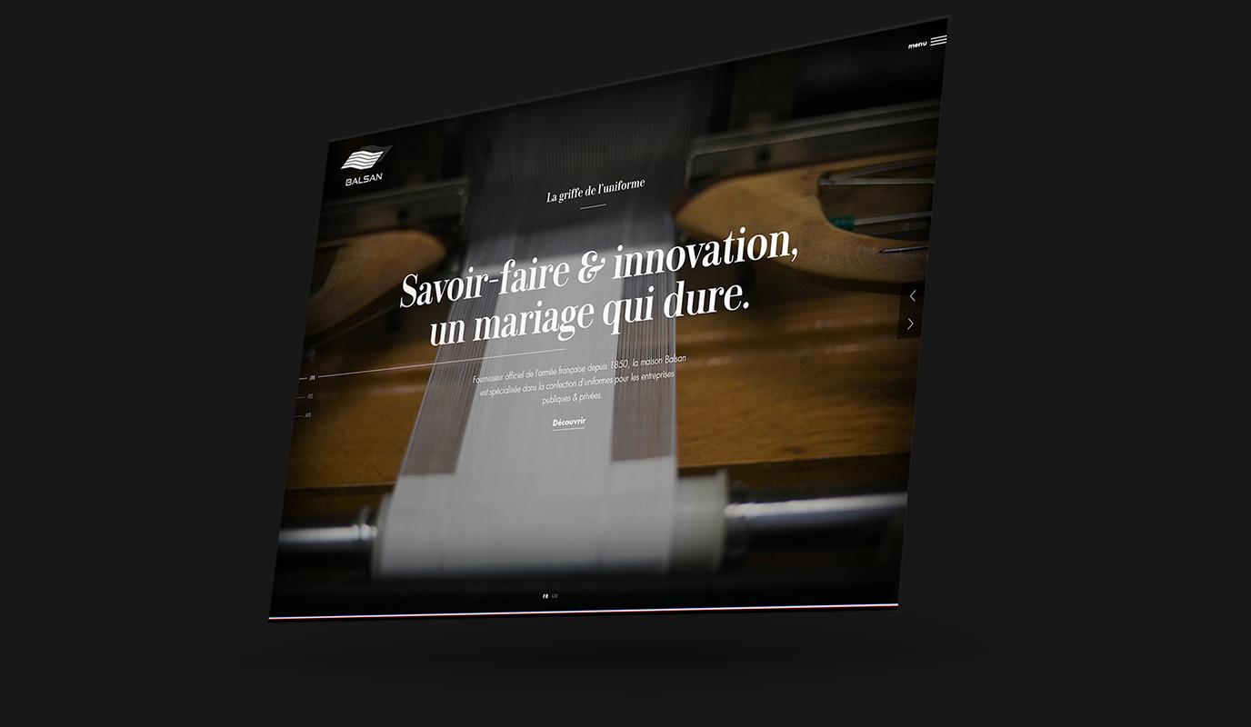 Groupe Marck - Balsan   Création site web vitrine - Application mobile