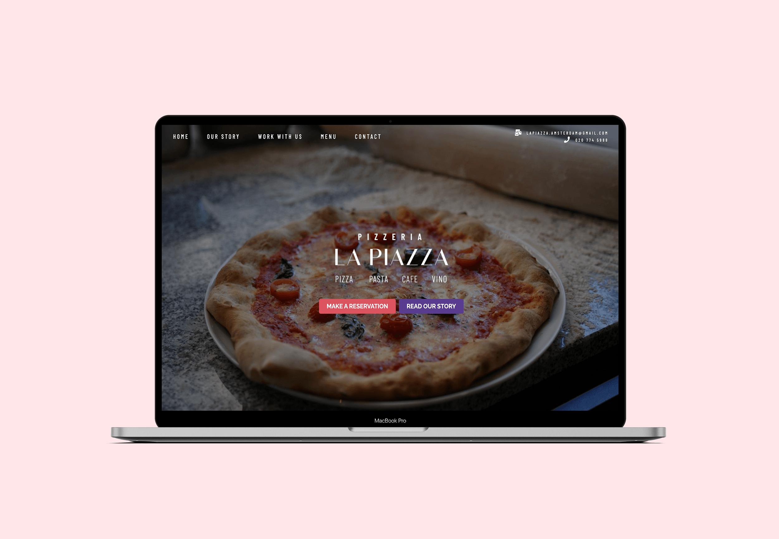 La Piazza - Website