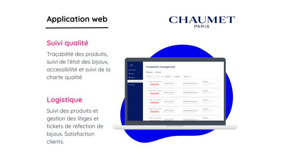 MAISON CHAUMET (LVMH) - Application web