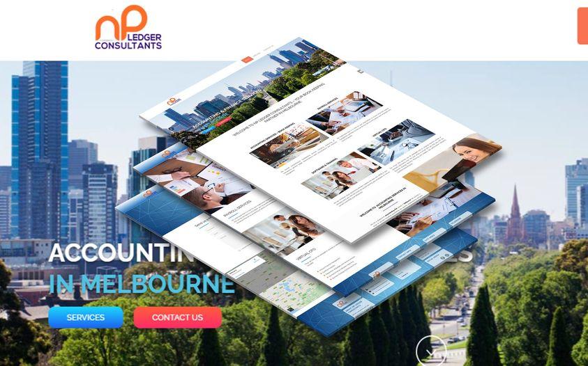 Website of  NP Ledger consultants - Website Creation