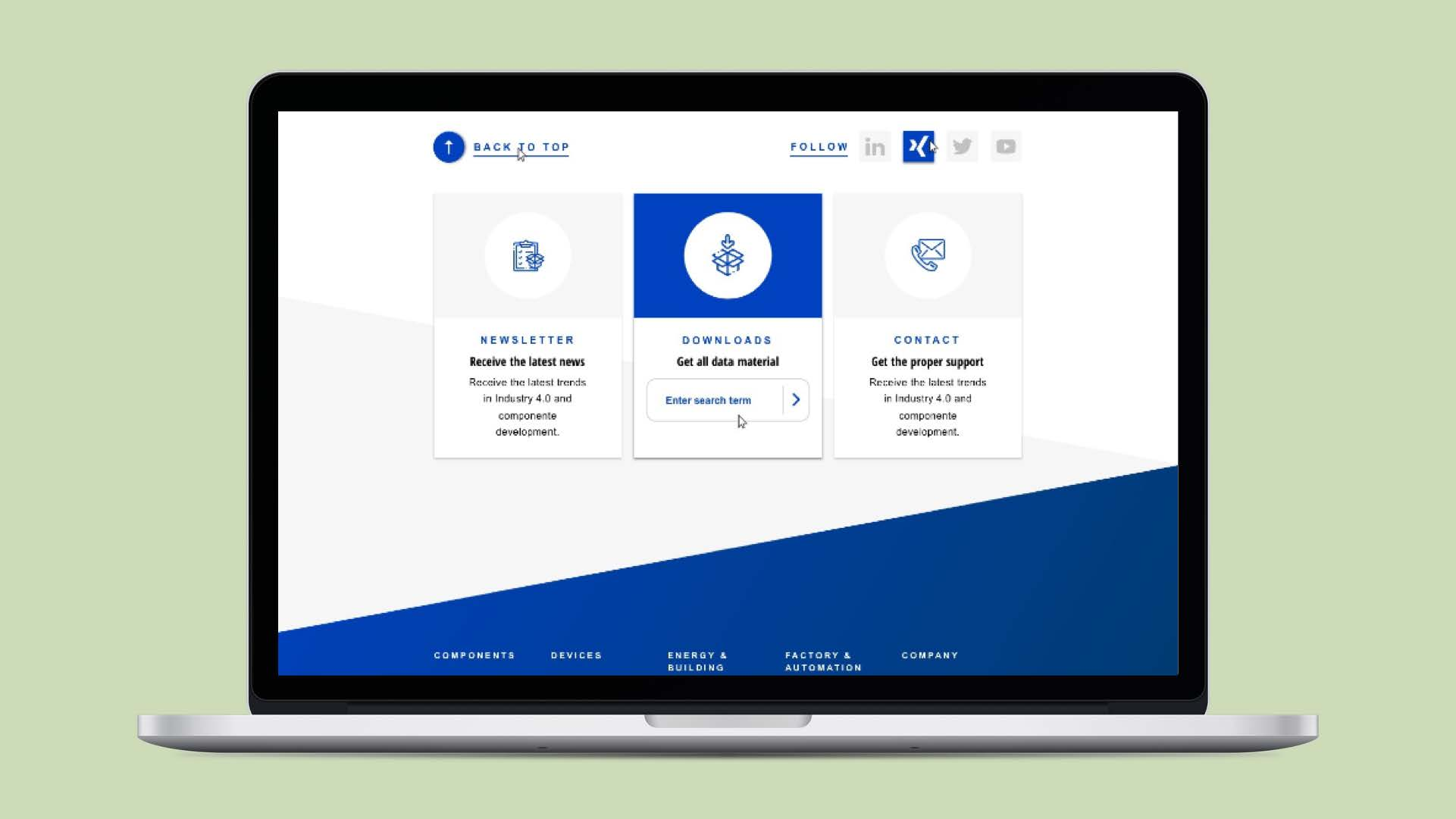 Website Panasonic Industry
