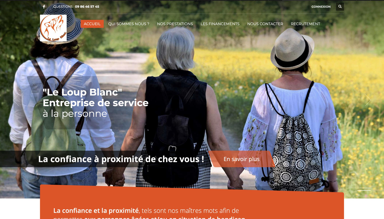 Site vitrine WordPress pour aides à la personne
