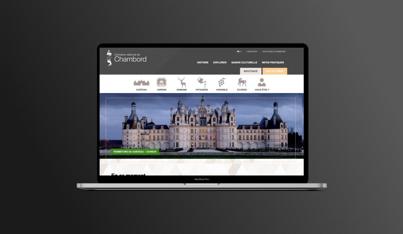 Domaine National de Chambord : WordPress,UX/UI,SEO - Création de site internet
