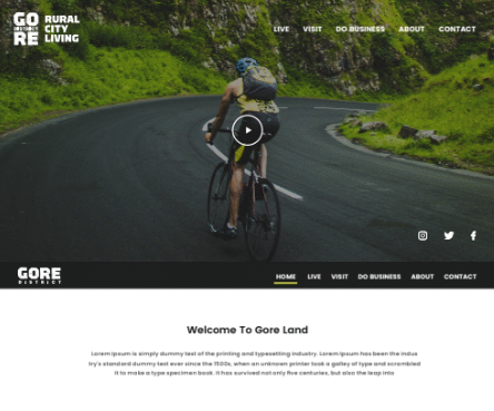 Gore Digital Platform & City Branding - Website Creation