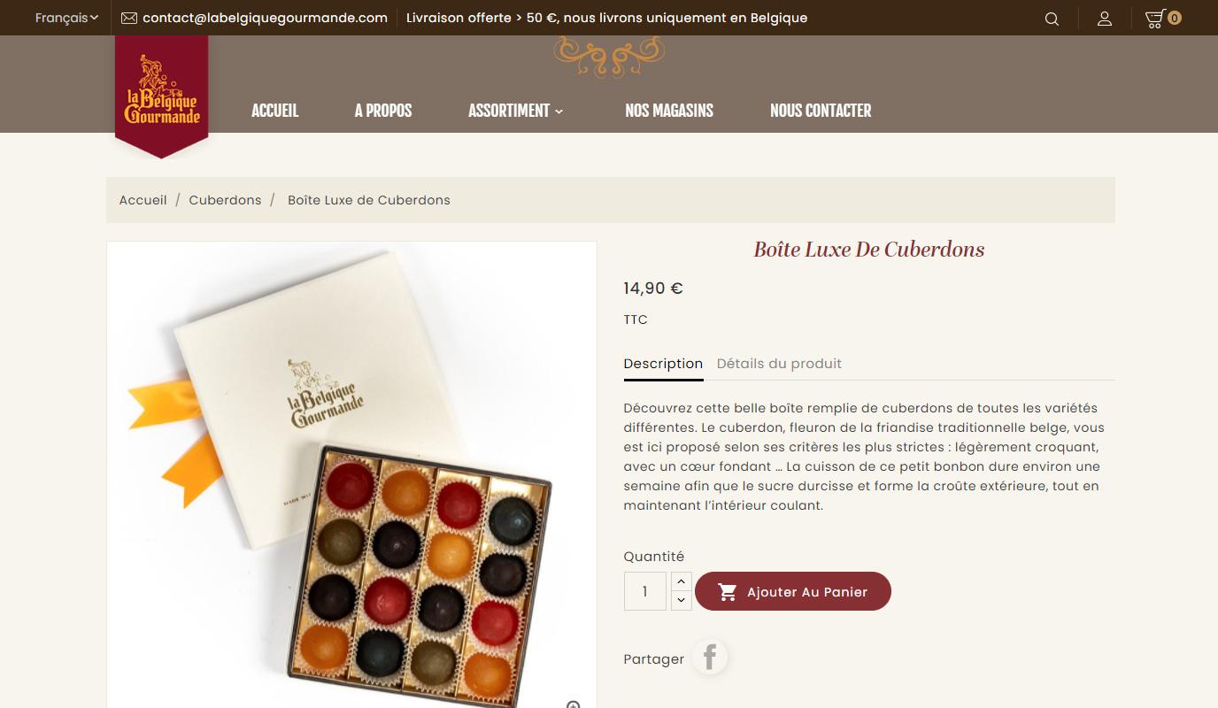 Webshop La Belgique Gourmande - E-commerce