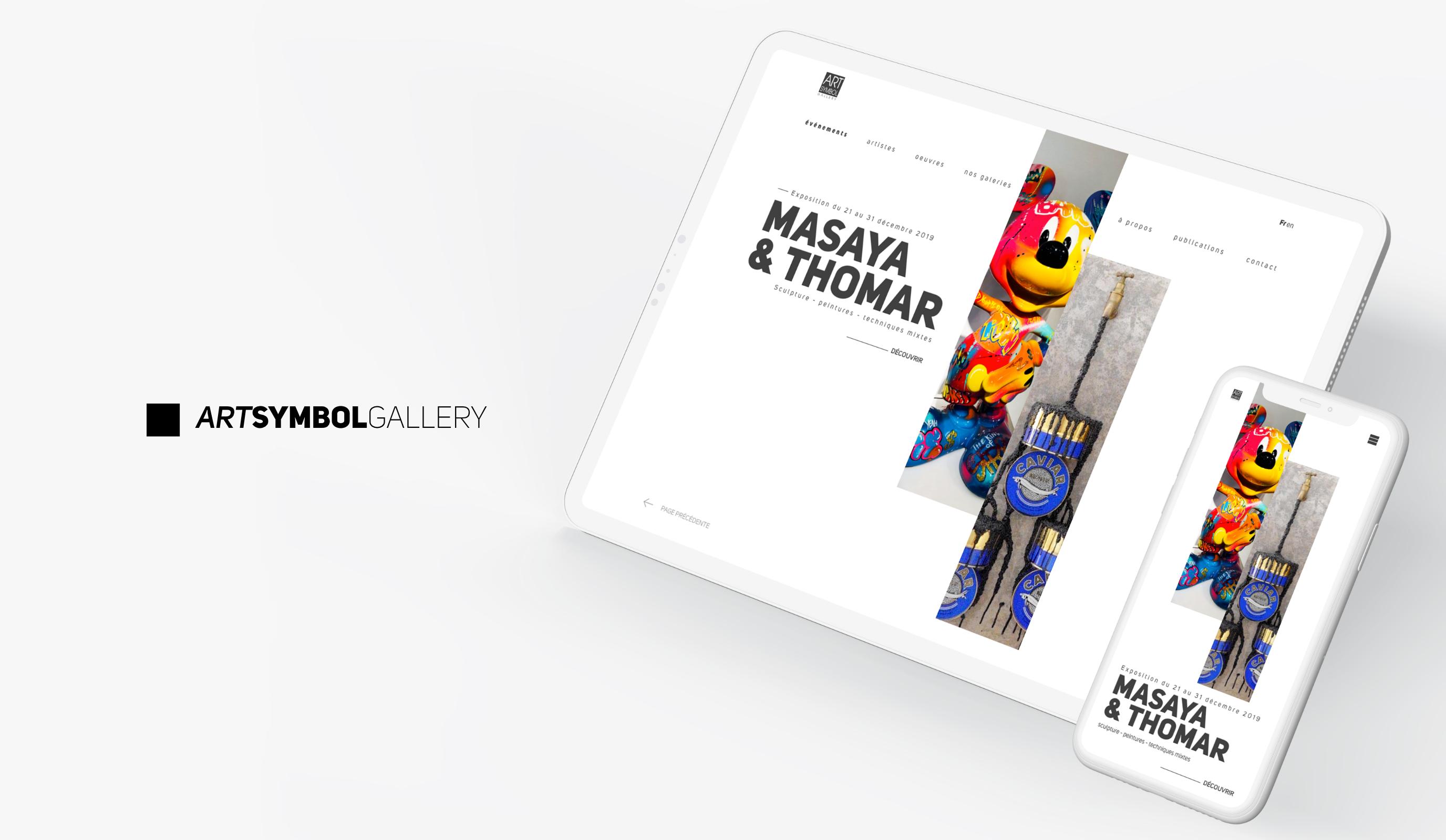 Art Symbol Gallery Branding & Website - Stratégie digitale