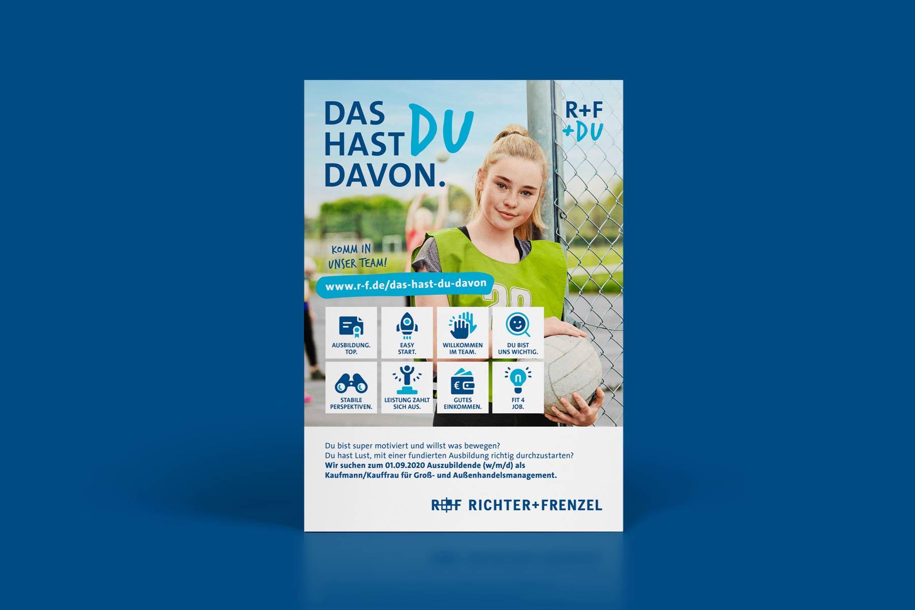 Azubi-Kampagne für Richter+Frenzel - Grafikdesign