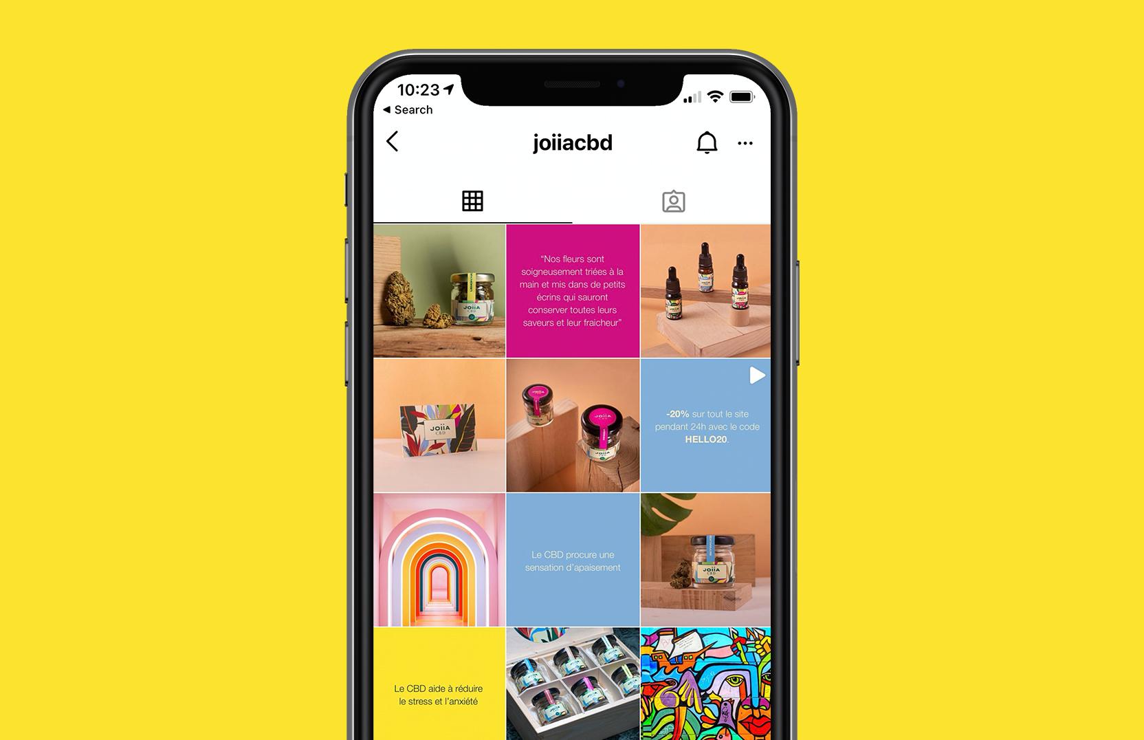 JOIIA CBD - Instagram Art Direction - E-commerce
