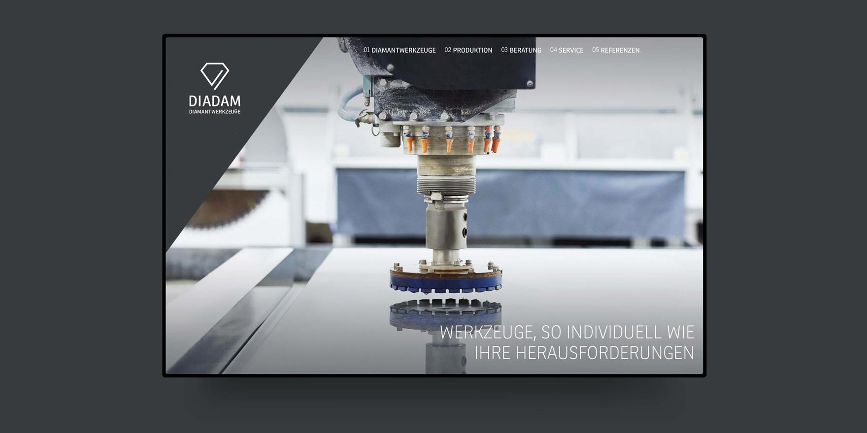 Diadam – Branding, Website & Editorial Design