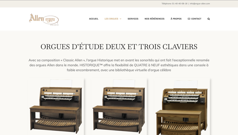 Création site Vitrine WordPress instrument musique