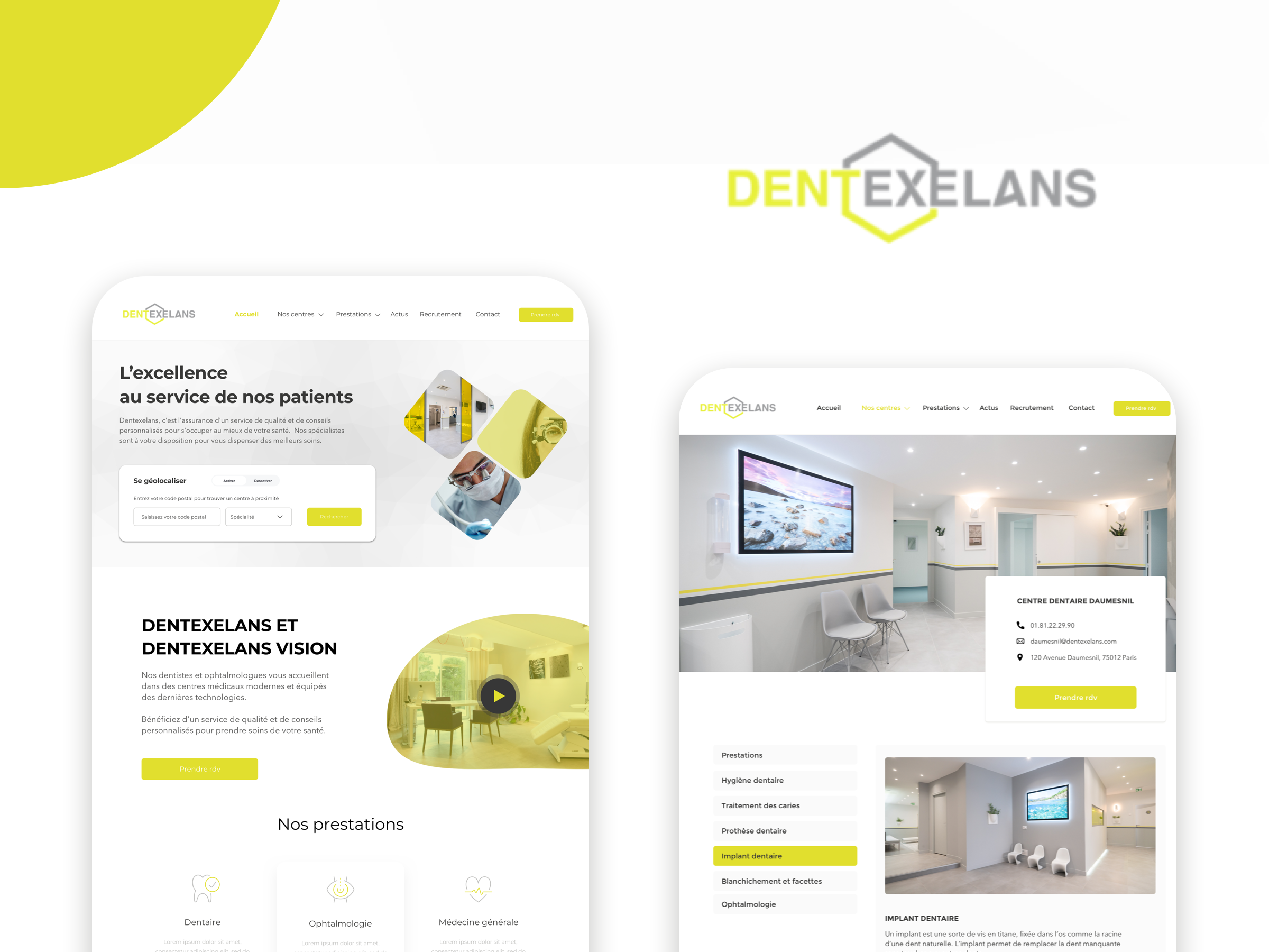 Dentexelans - Application mobile