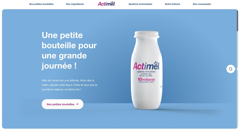 Actimel - Site de marque - E-commerce
