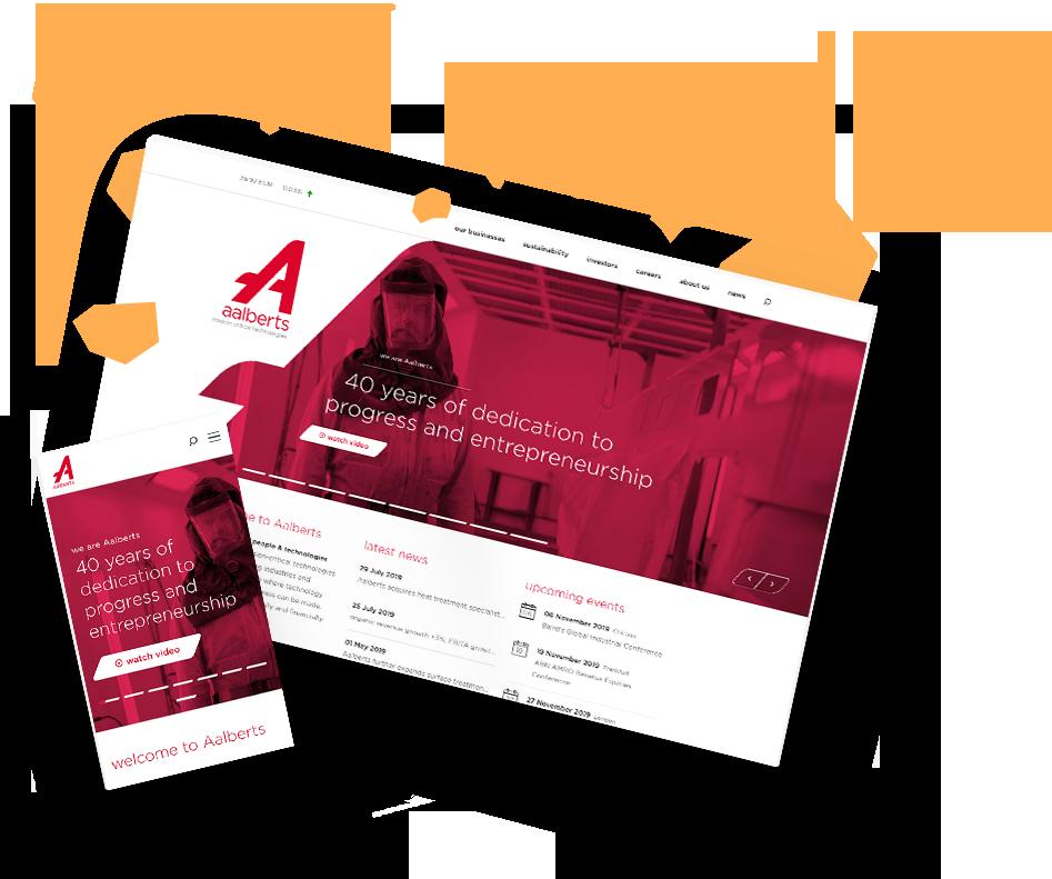 Aalberts' award winning website