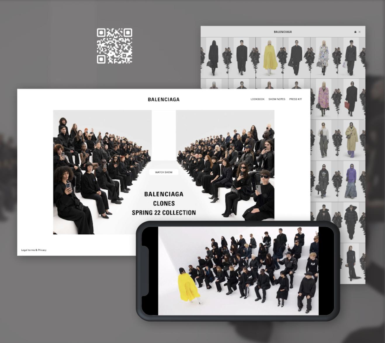Balenciaga - Défilé Spring 22 - Application mobile