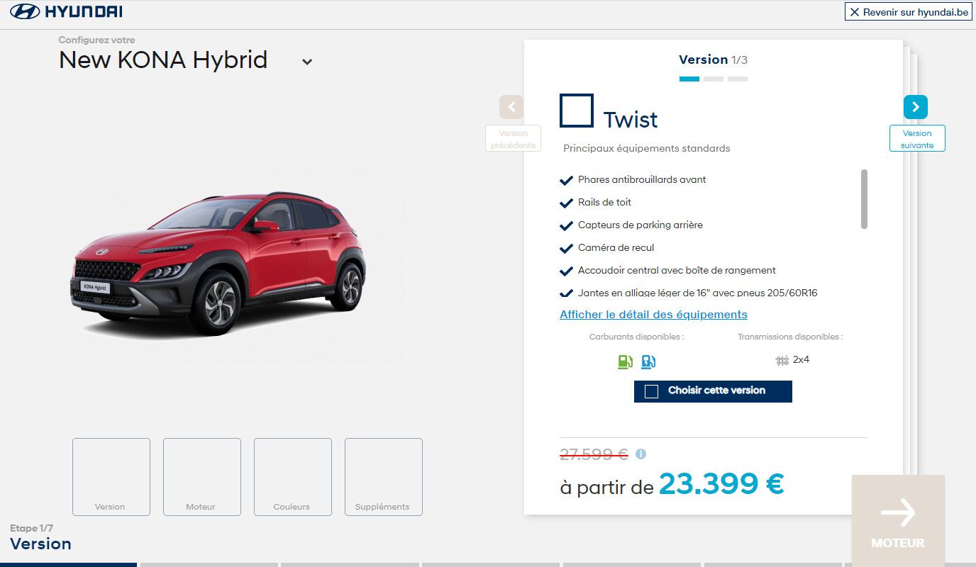 Hyundai Configurateur - Application web