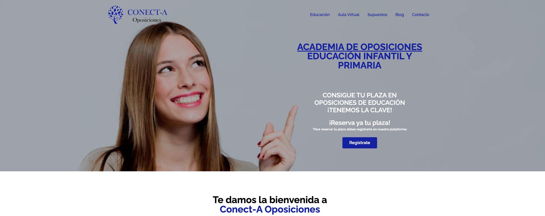 Web  Academia de Oposiciones - Aplicación Web