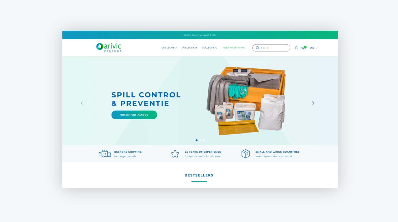 Webshop Arivic - Oil Spill Company - E-commerce