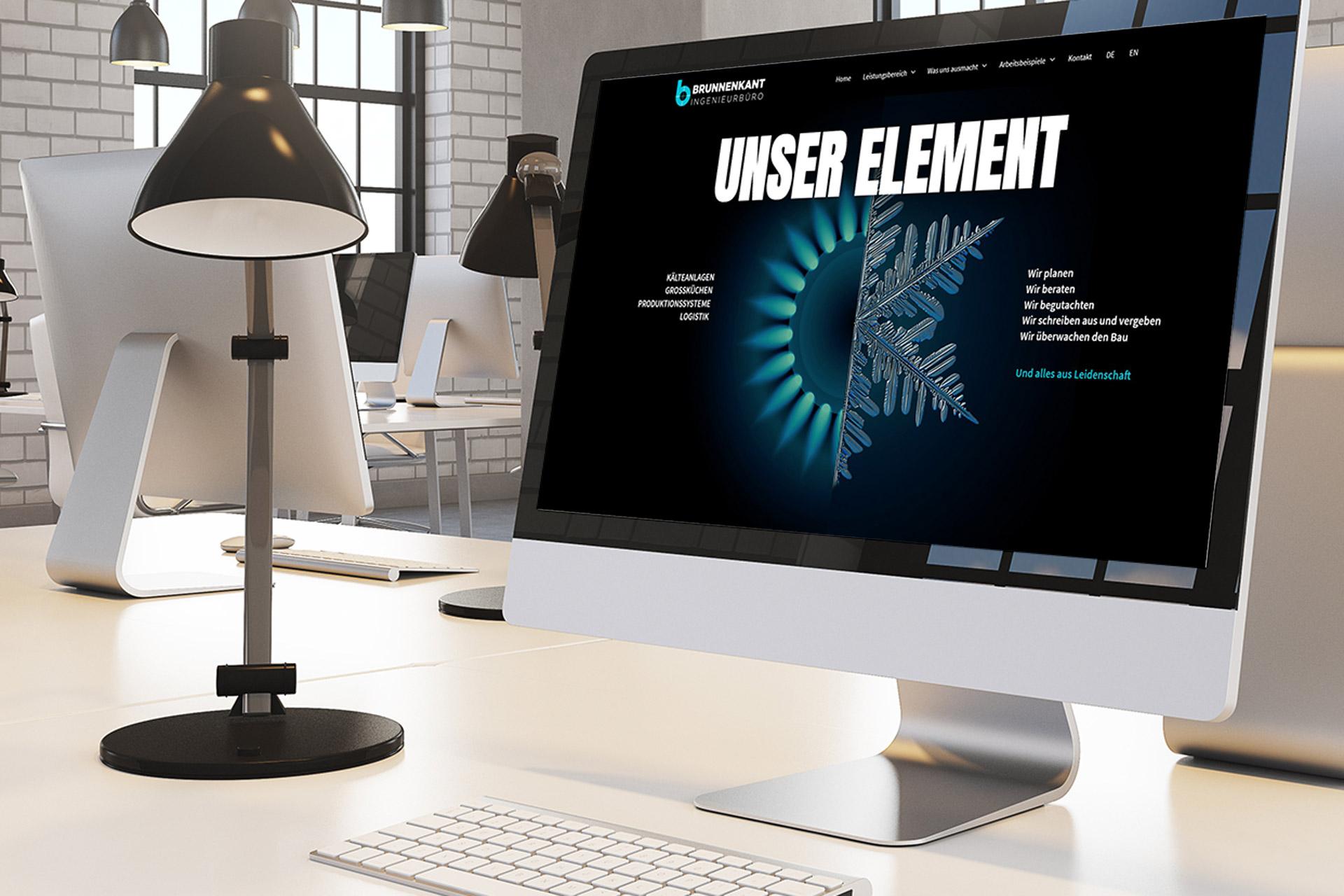 Neuer Markenauftritt für ein Ingenieurbüro - Website Creation