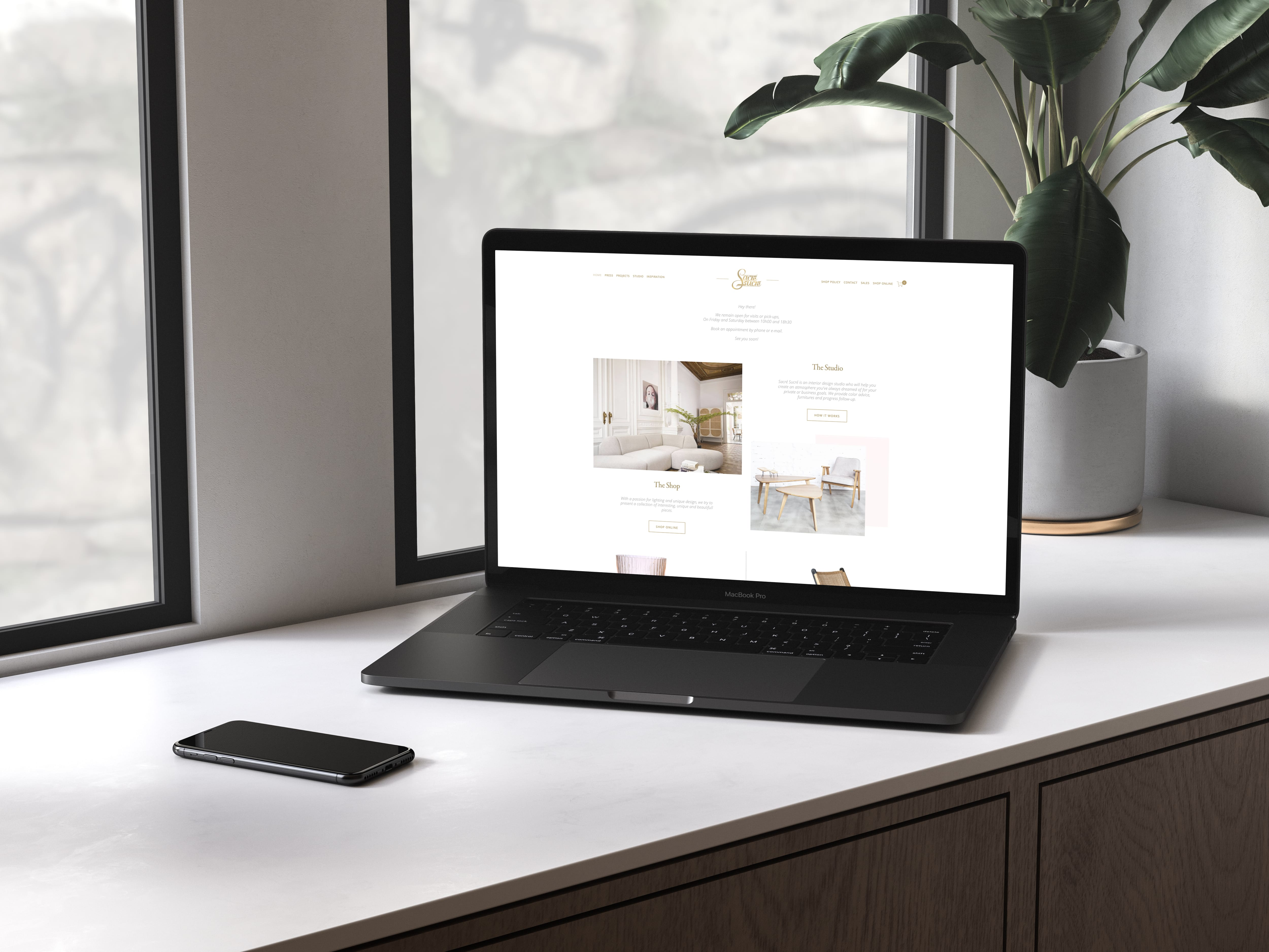 Site e-commerce de mobilier d'intérieur - E-commerce