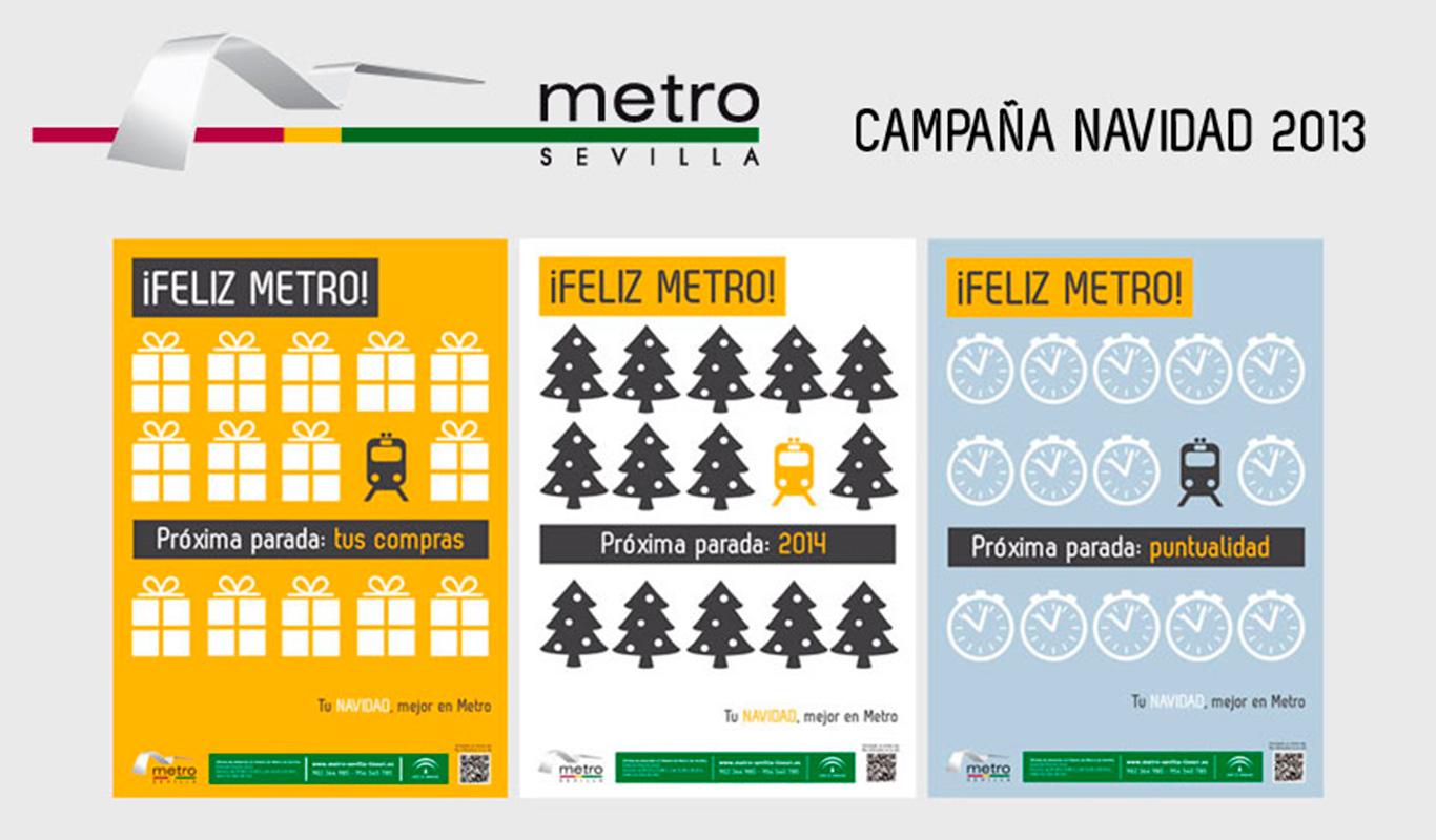 Campañas publicidad para Metro de Sevilla - Branding y posicionamiento de marca