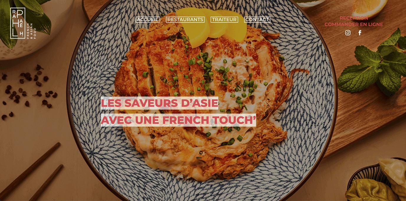 Restaurants Raphael H - Création de site internet